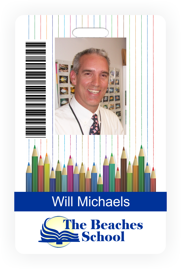 Customizable School Photo ID Badge