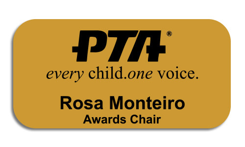 PTA Large Engraved 2 Line Name Tag