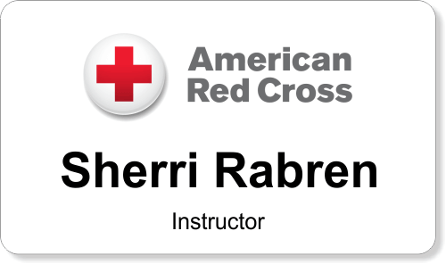 American Red Cross Employee Name Tag Holmescustom