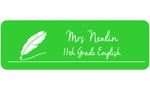 English Teacher Rectangle 2 Line Name Tag