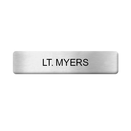 Silver Military Name Bar