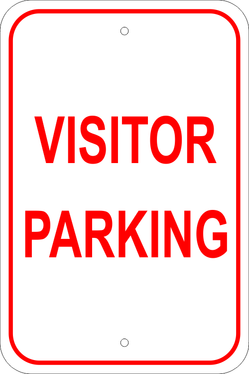 Visitor Parking Aluminum Sign - 18