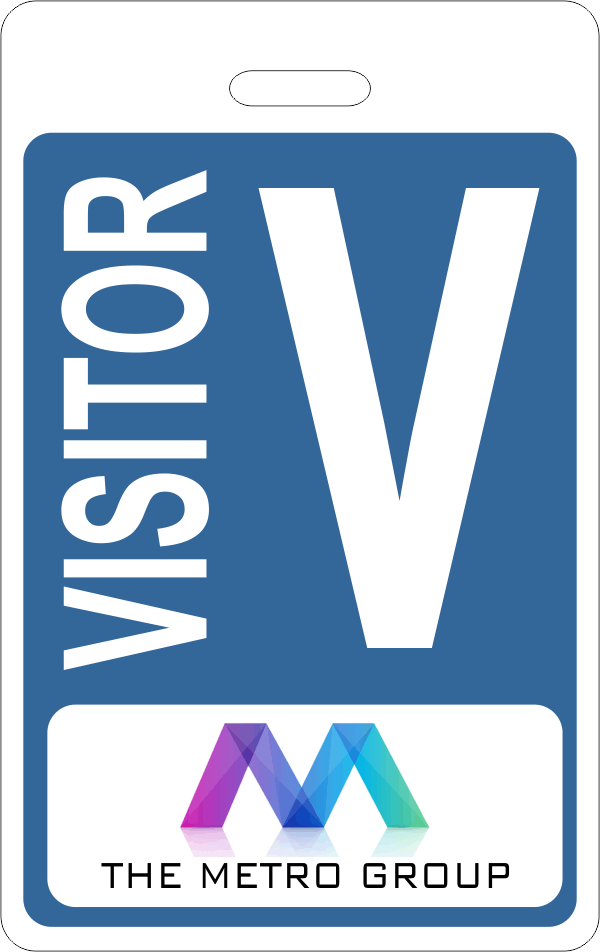 Visitor Name Tag With Logo Holmes Custom