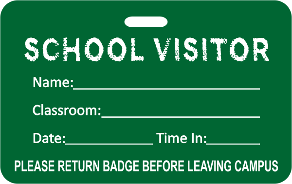 School Visitor Badge