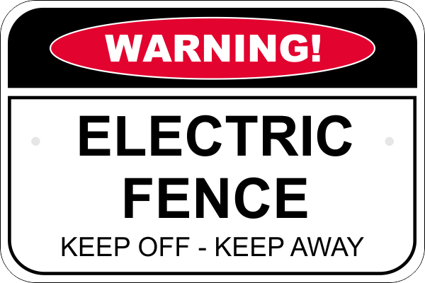 Warning Sign - ELECTRIC FENCE