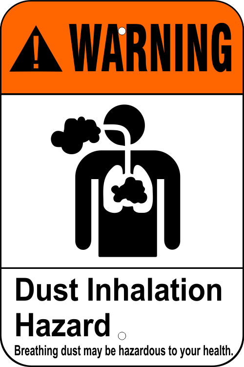 Dust Inhalation Hazard Health Aluminum Sign - 12