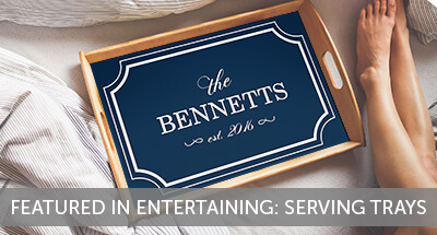 New in Store: Custom Serving Trays