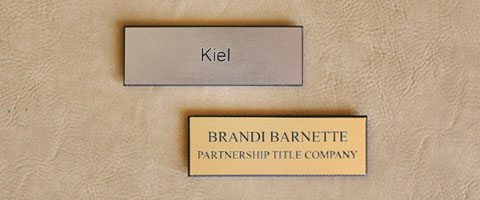 Pair of Name Tags