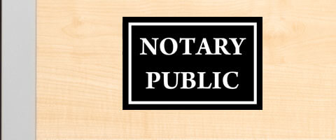 Engraved Plastic Notary Public Sign