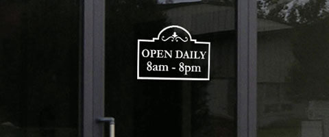 Vinyl Decal Window Sign