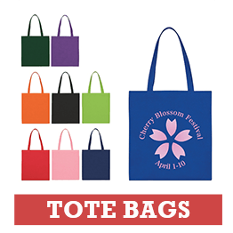Multi-Color Branded Tote Bags