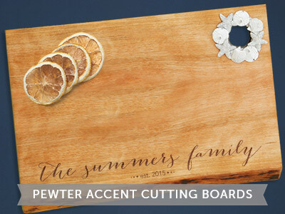 New Pewter Accent Cutting Boards