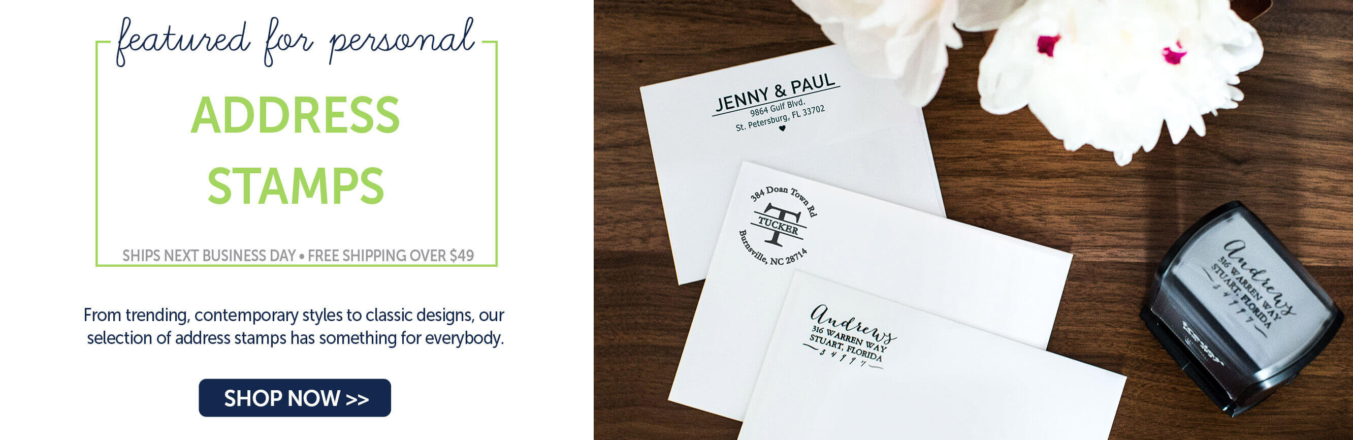 Personalized Address Stamps
