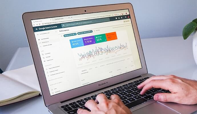 Laptop Showing Google Search Console