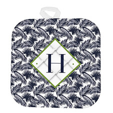 Palms Monogrammed Pot Holder